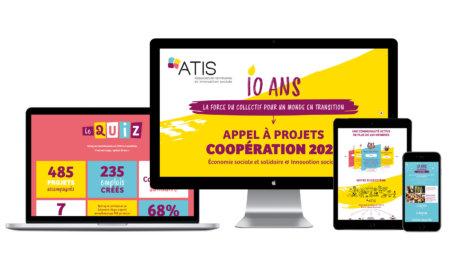 Objet digital réalisé pour les 10 ans d'ATIS