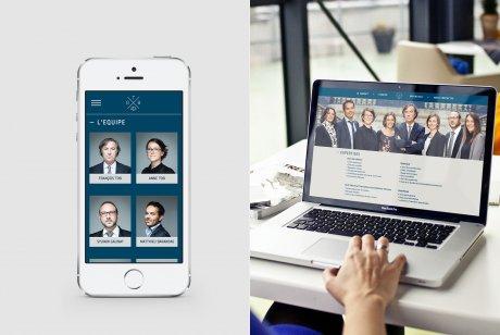 L'identité graphique du cabinet d'avocats déclinée sur le site web