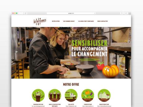la page d'accueil du site Les Détritivores