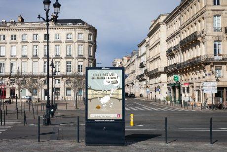 Campagne d'affichage pour lutter contre les déjections canines. Mairie de Bordeaux